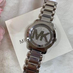 Michael Kors Runway MK Logo Glitz Watch
